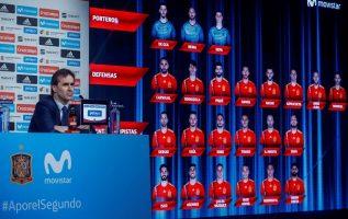 Julen Lopetegui presentando la lista de 23 convocados para Rusia 2018. EFE